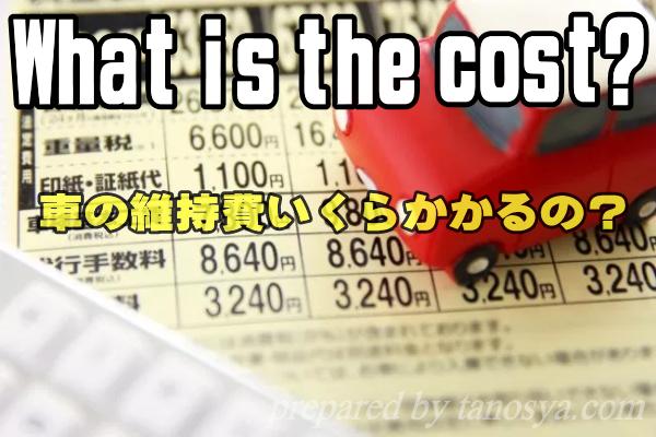 車の維持費いくらかかるの?