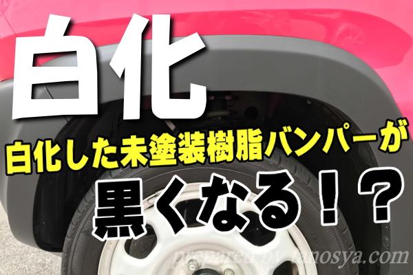 車の未塗装樹脂が復活